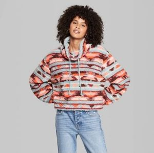 Wild Fable Cowl Neck Sherpa Pullover